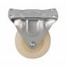 Колесо аппаратное неповоротное - неповоротная колесная опора, цельнолитое, полиэтилен, платформенное крепление FCpp 15