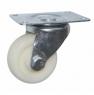 Колесо аппаратное поворотное - поворотная колесная опора, цельнолитое, полиэтилен, платформенное крепление SCpp 42