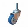Колесо аппаратное поворотное - поворотная колесная опора, ПВХ (синий), болтовое крепление SCtv 25+