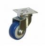 Колесо аппаратное поворотное - поворотная колесная опора, ПВХ (синий), платформенное крепление SCv 25 +
