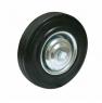 Колесо промышленное С85, шинка - черная полуэластичная резина, обод-штампованная листовая сталь, оцинкован, защитные кожуха. Допустимая нагрузка 220 кг.