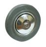 Колесо промышленное С80f, шинка - серая полуэластичная резина, обод-штампованная листовая сталь, оцинкован, защитные кожуха. Допустимая нагрузка 185 кг.