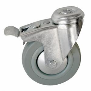 Колесо аппаратное поворотное с тормозом - поворотная колесная опора с тормозом,  крепление под болт SChgb 42+
