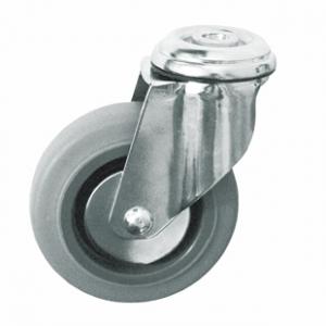 Колесо медицинское аппаратное поворотное - поворотная колесная опора, крепление под болт SChg 55-1