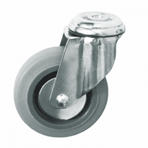 Колесо медицинское аппаратное поворотное - поворотная колесная опора,  крепление под болт SChg 60-1