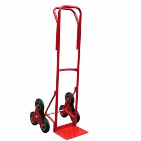 Тележка лестничная (НТ 1310), грузоподъемность - 120 кг. Два блока по 3 колеса диаметром 160 мм.