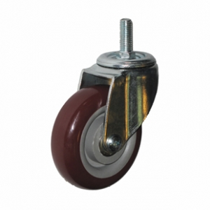 Колесо аппаратное поворотное - поворотная колесная опора, болтовое крепление, полиуретановый контактный слой SCtpk 93