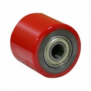 Ролик для гидравлической тележки, полиуретановый контактный слой, стальной обод LR93+1