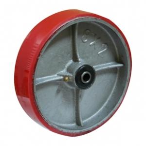 Колесо большегрузное P46, стальной литой обод, полиуретановый контактный слой. Допустимая нагрузка 250 кг.