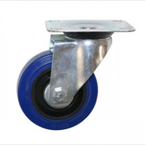 Колесо промышленное поворотное - Поворотная колесная опора, платформенное крепление SCL 93